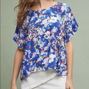Anthropologie Maeve Milla Floral Blouse